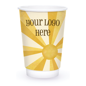 Summer 16oz Custom Printed Insulated Paper Hot Cups