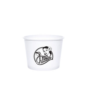 Reliance 12oz Custom Printed White Paper Dessert/Soup Cups
