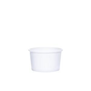 Reliance Blank 4oz White Paper Dessert Cups