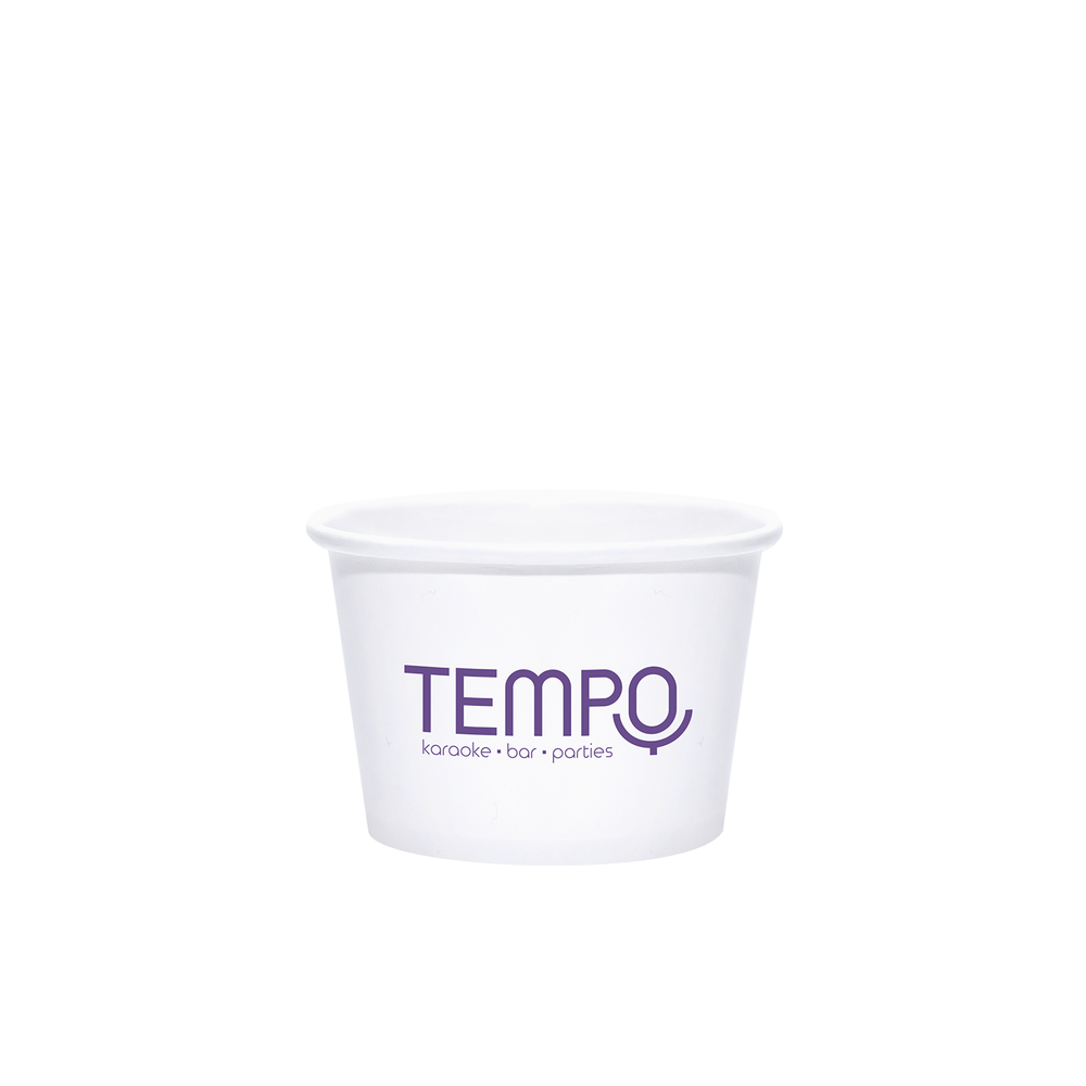 8oz Custom Printed White Paper Dessert Cups