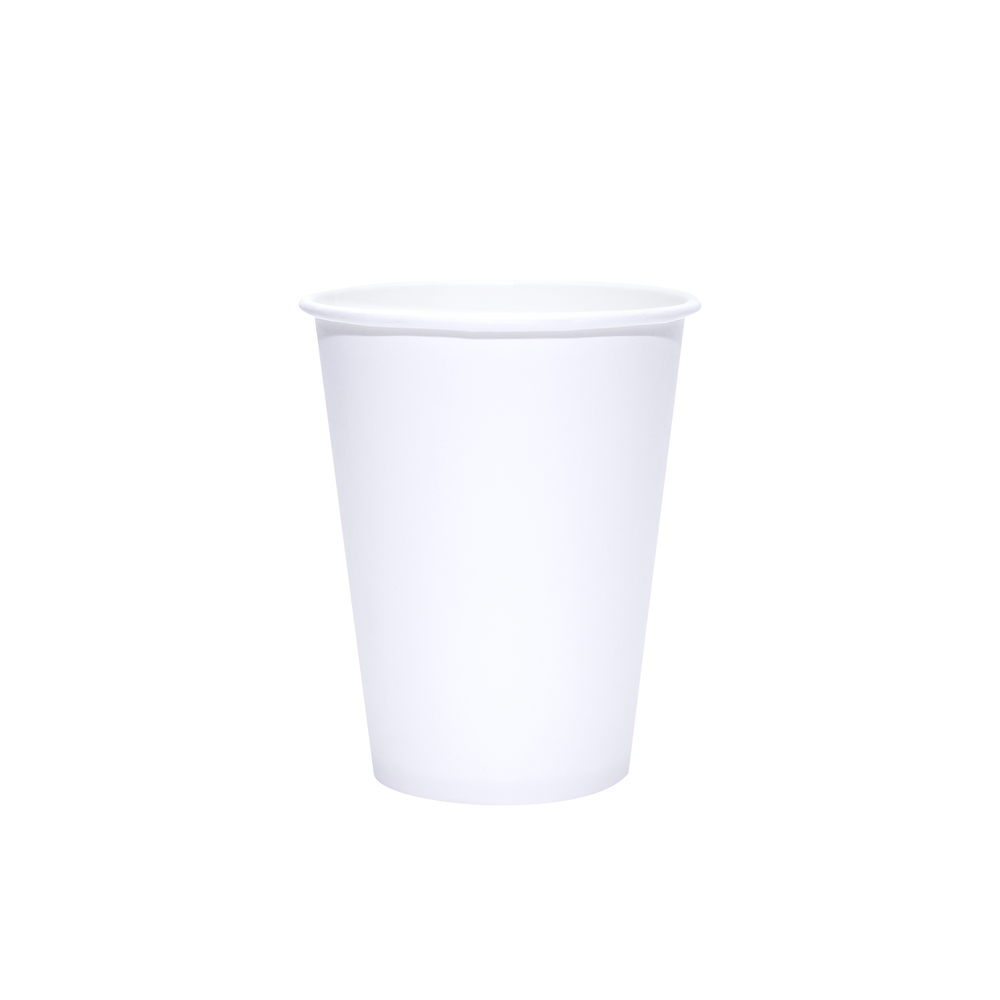 Reliance Blank 12oz White Paper Hot Cups