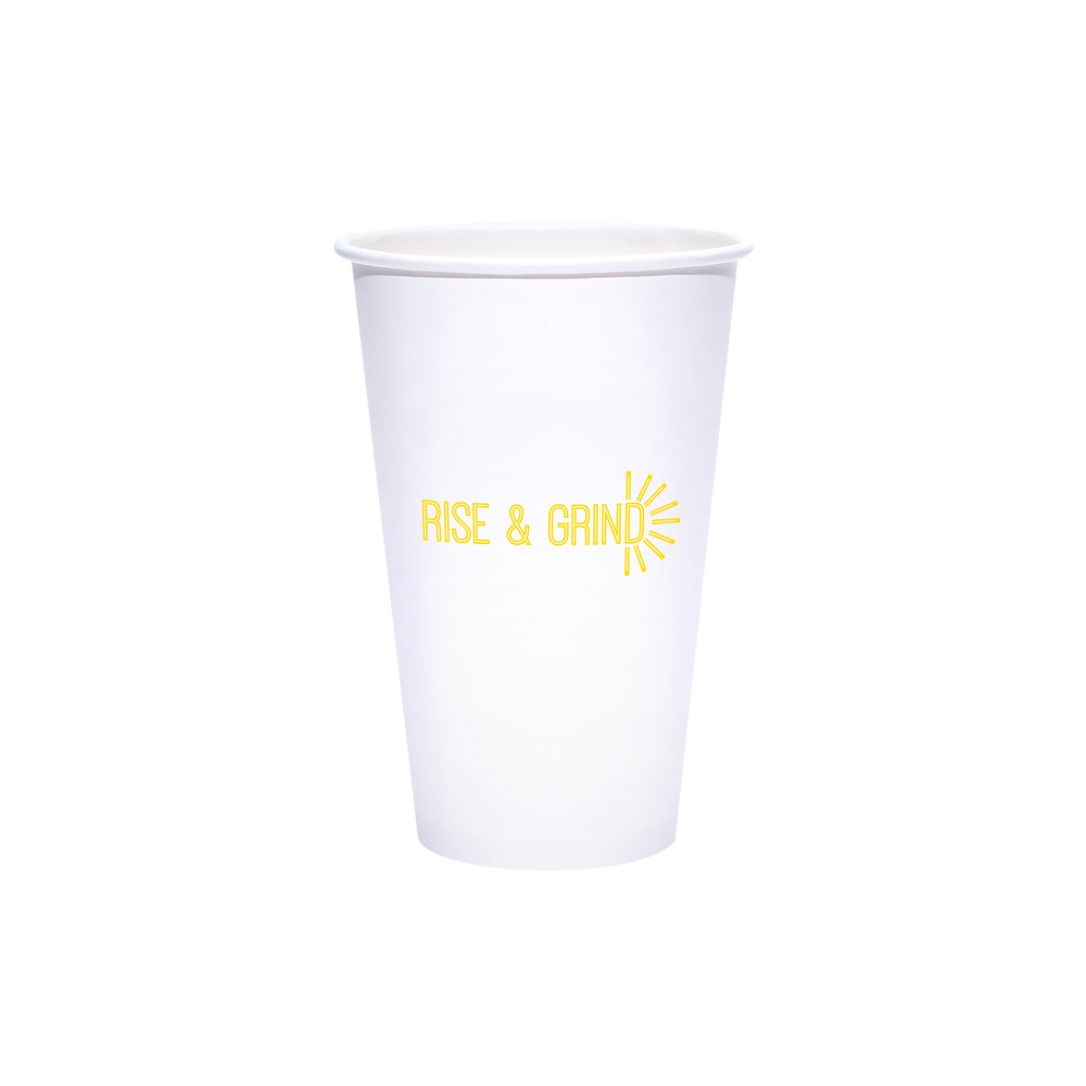 16oz Custom Printed White Paper Hot Cups