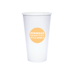 20oz Custom Printed White Paper Hot Cups