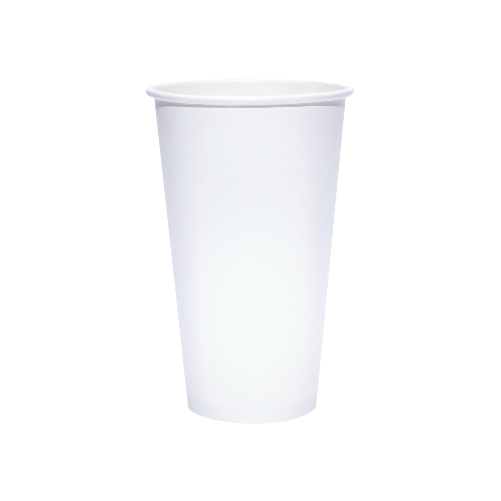 Reliance Blank 20oz White Paper Hot Cups