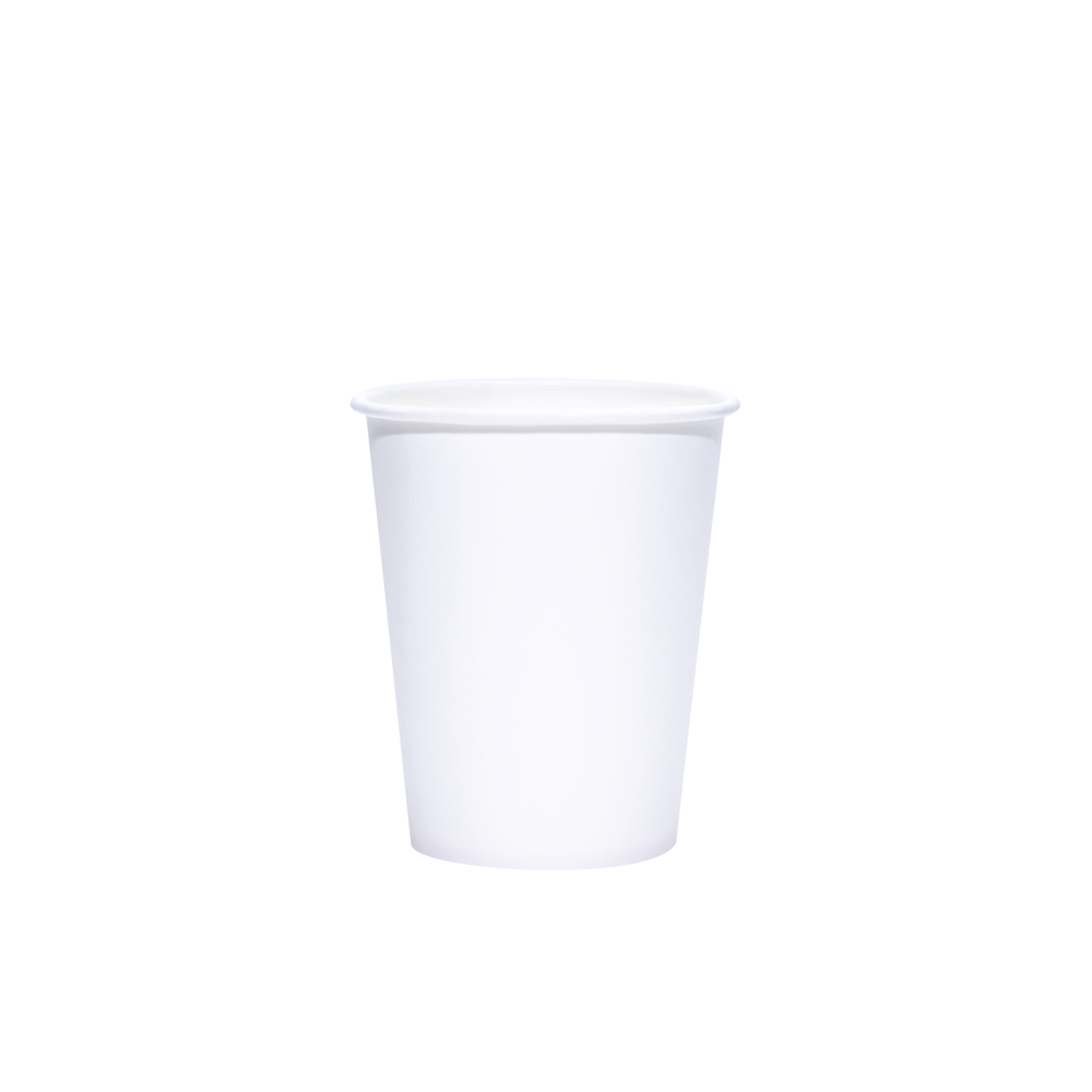 Reliance Blank 8oz White Paper Hot Cups