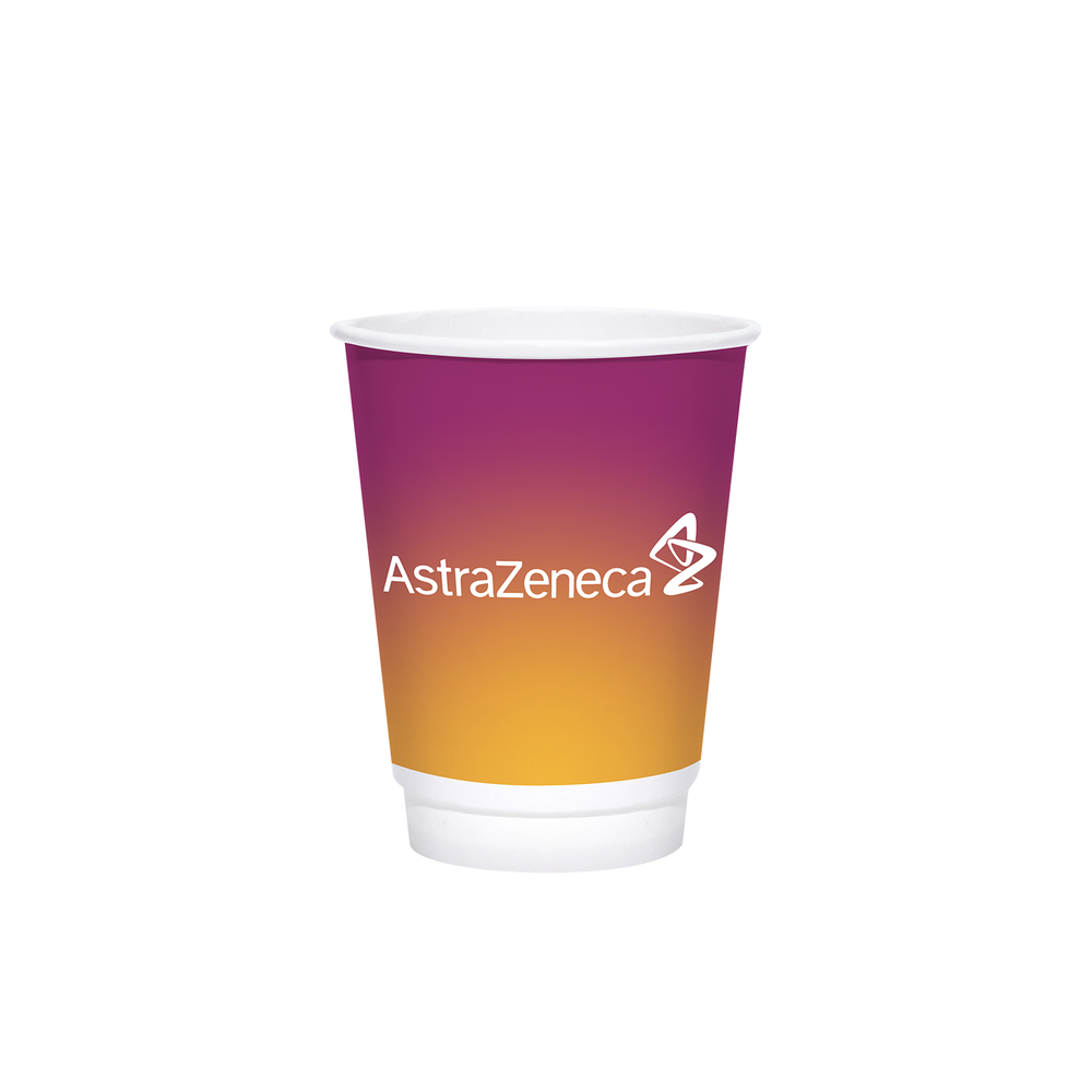 Reliance 12oz Custom Printed White Insulated Paper Hot Cups