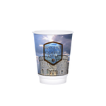 12oz Custom Printed White Insulated Paper Hot Cups