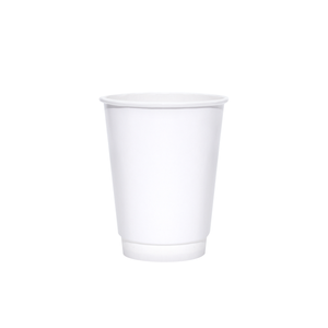 Blank 12oz White Insulated Paper Hot Cups