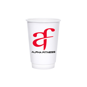 Reliance 16oz Custom Printed White Insulated Paper Hot Cups