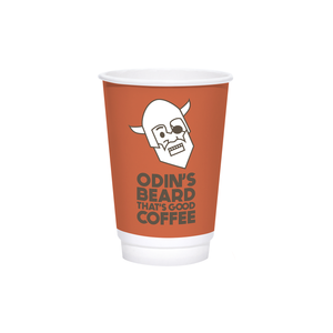 16oz Custom Printed White Insulated Paper Hot Cups