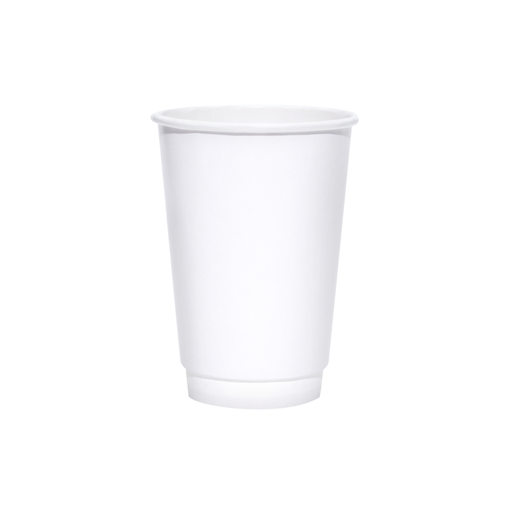 16oz White Insulated Paper Hot Cups