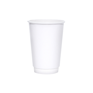 Blank 16oz White Insulated Paper Hot Cups