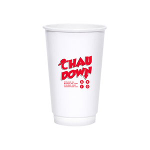 20oz Custom Printed White Insulated Hot Cups
