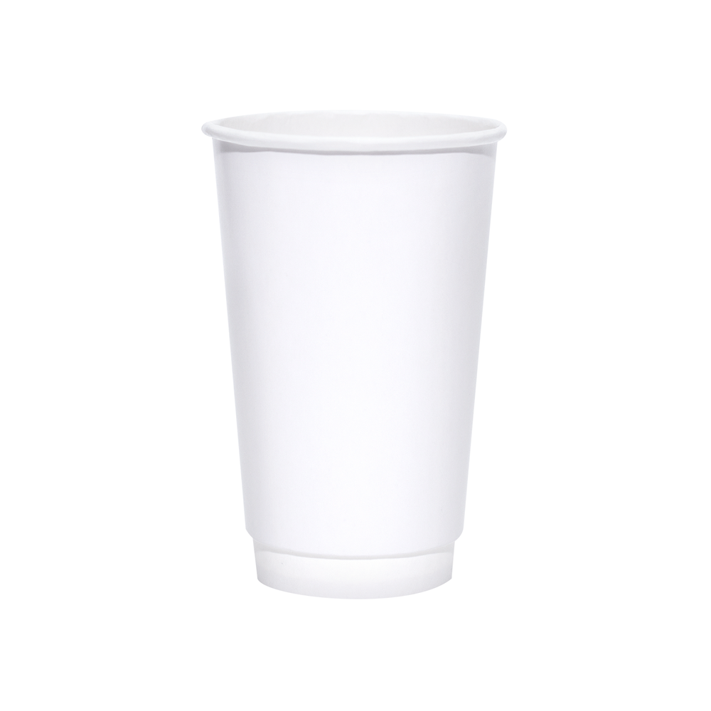 20oz White Insulated Paper Hot Cups