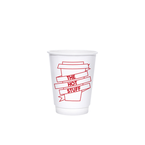 8oz Custom Printed White Insulated Paper Hot Cups