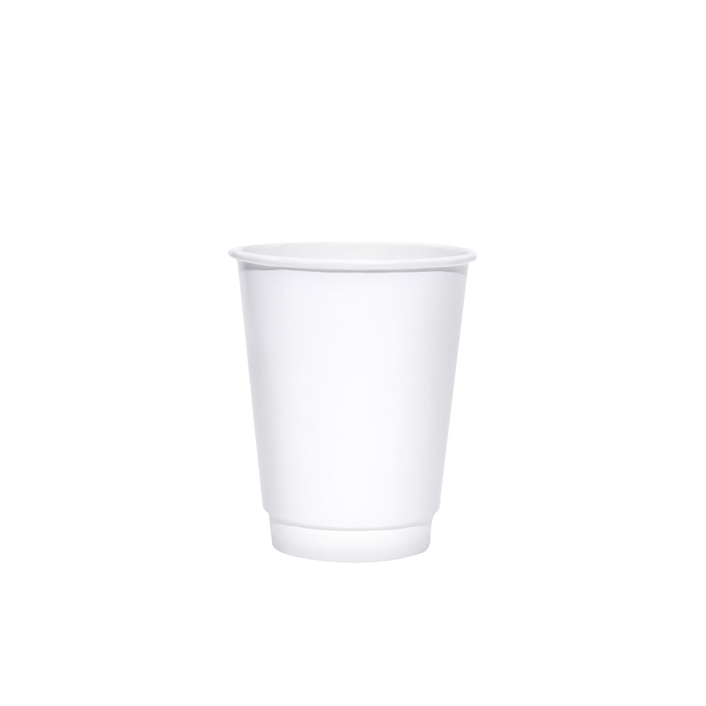 8oz White Insulated Paper Hot Cups