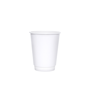 Blank 8oz White Insulated Paper Hot Cups