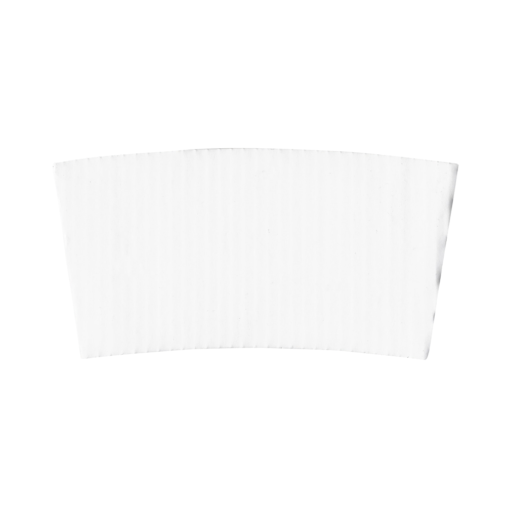 White Corrugated Coffee Sleeves