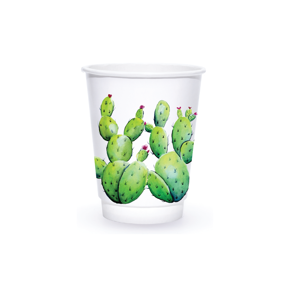 Summer 8oz Custom Printed Insulated Paper Hot Cups