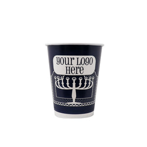 Winter 12oz Custom Printed Single Wall Paper Hot Cups