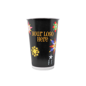 Winter 16oz Custom Printed Single Wall Paper Hot Cups