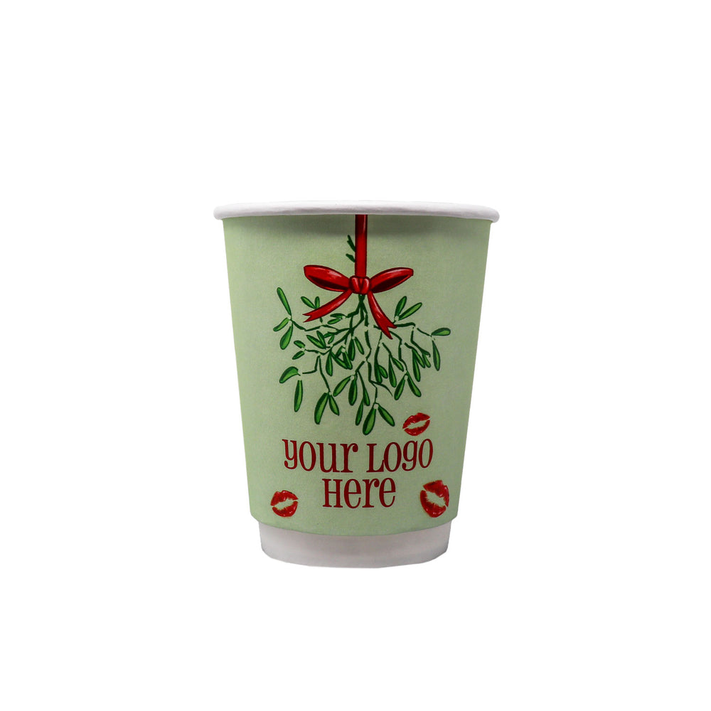 Winter 12oz Custom Printed Insulated Paper Hot Cups