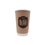 16oz Custom Printed Kraft Insulated Paper Hot Cups