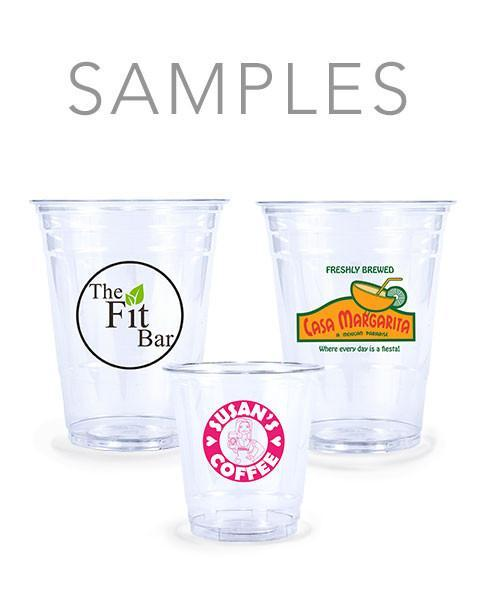 Samples - Clear Plastic PET Cups