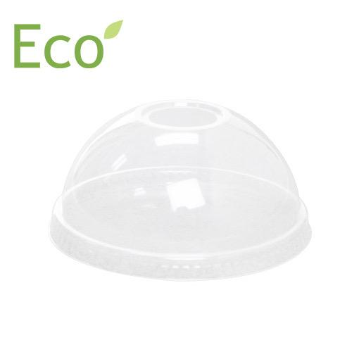 Dome Lids for 12oz to 20oz Eco-Friendly Cold PLA Cups