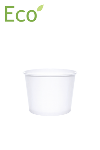 12oz Eco-Friendly White Paper Dessert/Soup Cups