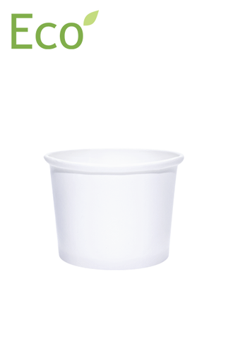 16oz Eco-Friendly White Paper Dessert/Soup Cups