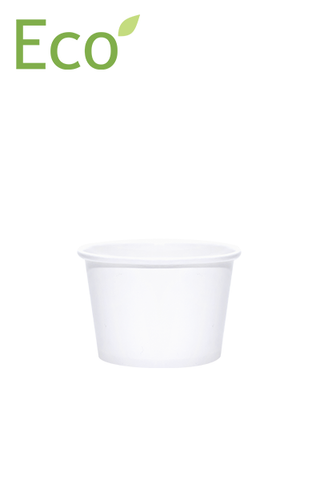 8oz Eco-Friendly White Paper Dessert/Soup Cups