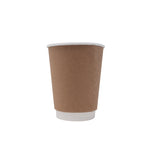 12oz Kraft Insulated Paper Hot Cups