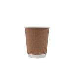 8oz Kraft Insulated Paper Hot Cups