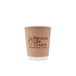 Reliance 8oz Custom Printed Kraft Insulated Paper Hot Cups