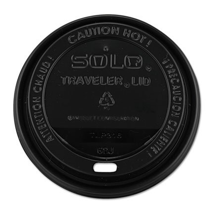 Solo Black Traveler Lids for 10~24oz Paper Hot Cups