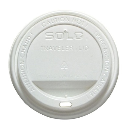 Solo White Traveler Lid for 10~24oz Paper Hot Cups