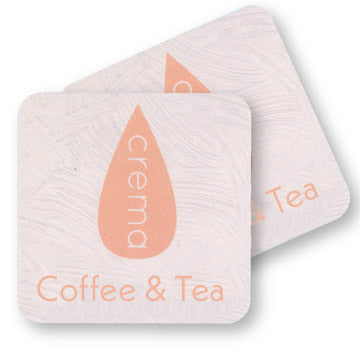 "4"" Full Color Square Custom Coaster - Front & Back 100 Pack"