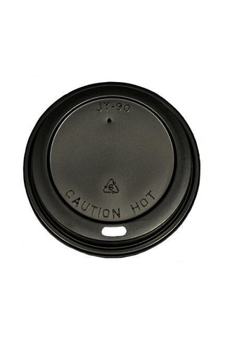 Black Dome Lids for 10-24oz Paper Hot Cups