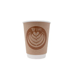 12oz Custom Printed Kraft Insulated Paper Hot Cups