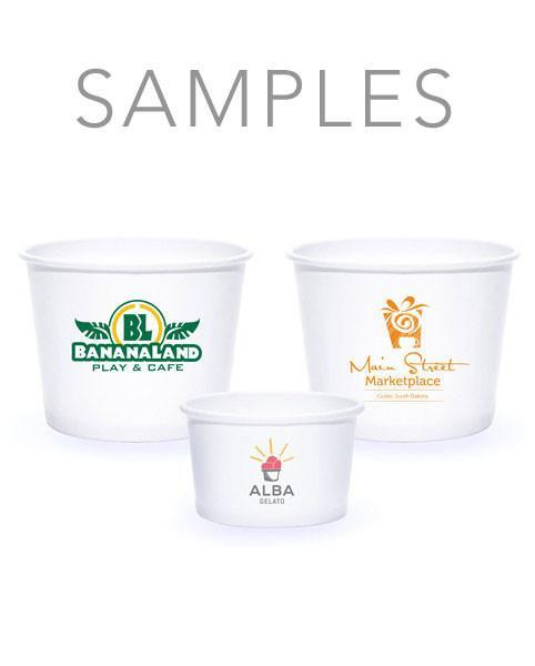 Samples - White Paper Dessert Cups