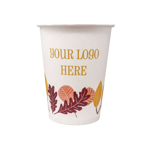 Fall 12oz Custom Printed Single Wall Paper Hot Cups