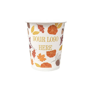 Fall 8oz Custom Printed Single Wall Paper Hot Cups
