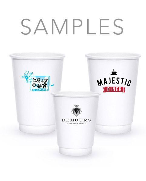 Samples - White Double-Walled Paper Hot Cups