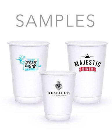 Samples - White Insulated Paper Hot Cups