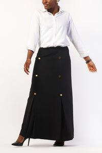 Straight Button Skirt