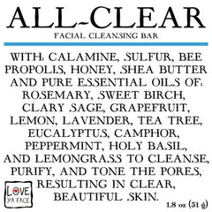 All-Clear Facial Cleansing Bar