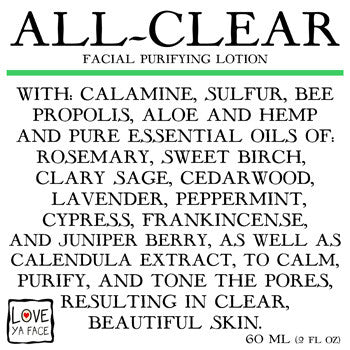 All-Clear Facial Purifying Lotion