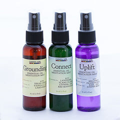 Chakra Trio Set of Natural Fragrances and Meditation Mists