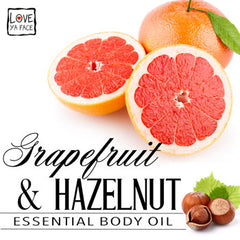Grapefruit and Hazelnut Essential Body Oil